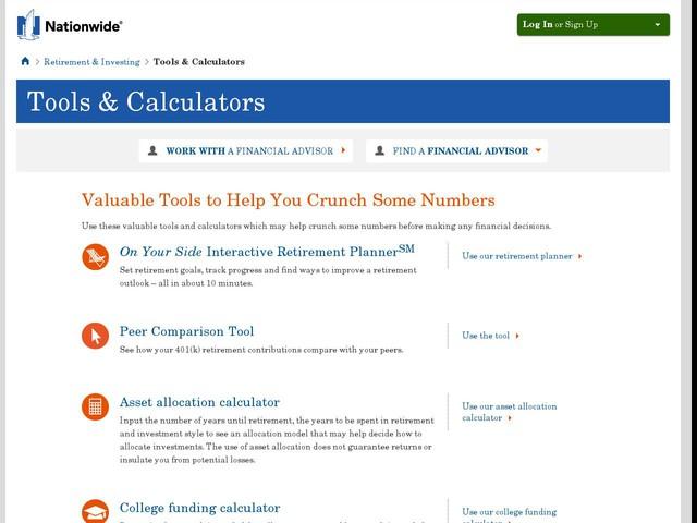 Tangerine retirement calculator pay question