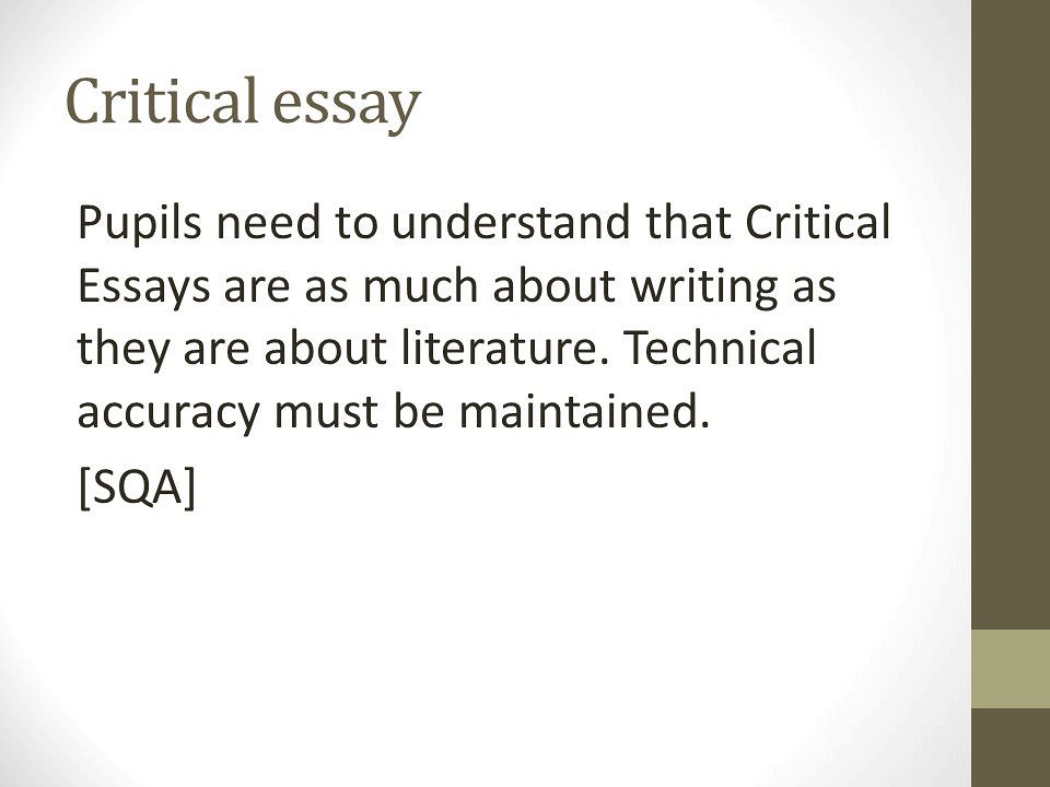 Write my writing a critical essay about literature