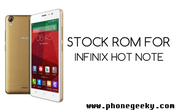 Download infinix note 4 stock rom