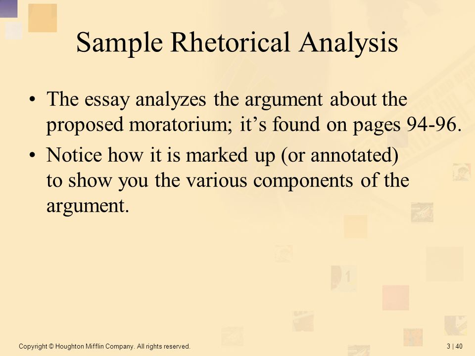 How to rhetorically analyze an essay