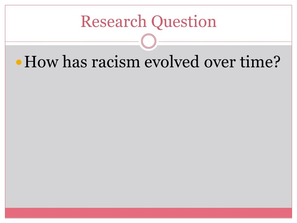 Racism research paper