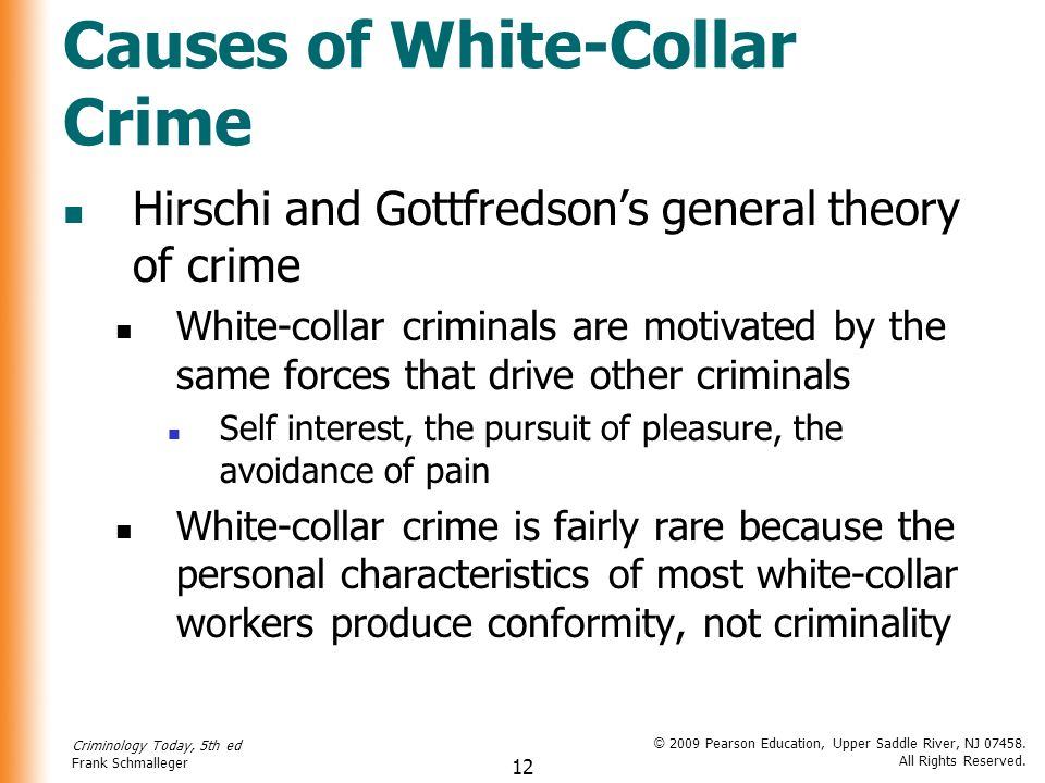 Why People Commit White Collar Crimes