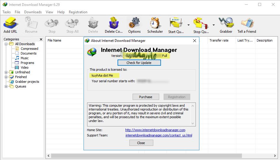 Internet Download Manager Serial Number for