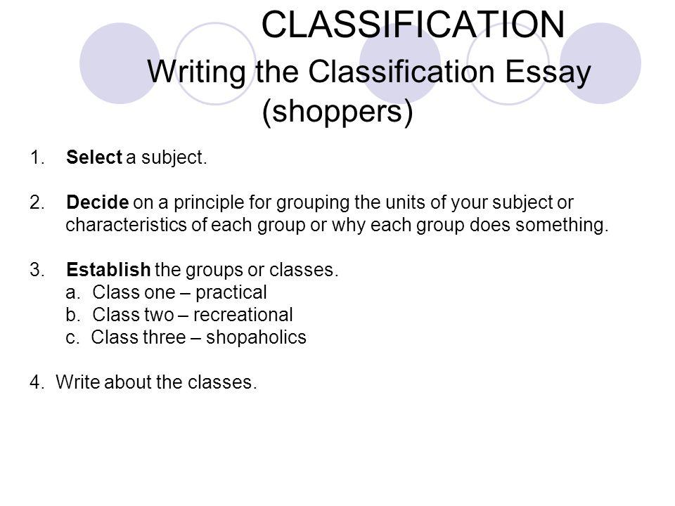 Write my classification essay definition