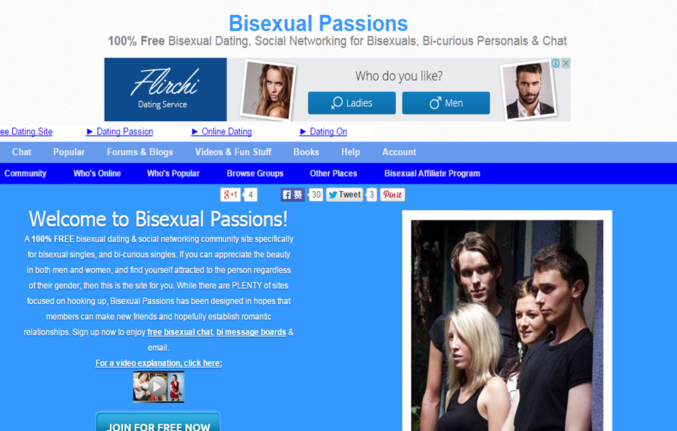 women bisexual website Free