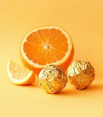 Рецепт Апельсиновые конфеты сгрецкими орехами