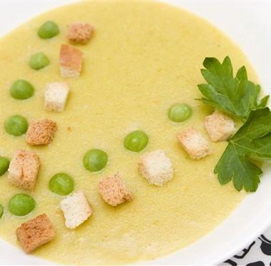Рецепт Гороховый крем-суп спетрушкой