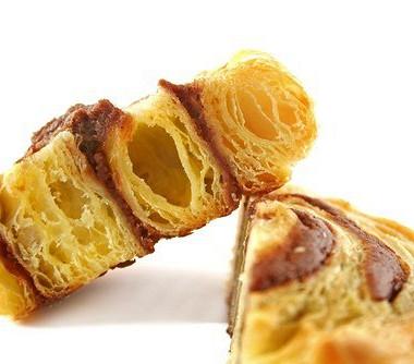 Рецепт Шоколадно-ванильные булочки издатского слоеного теста