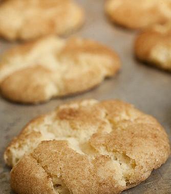 Рецепт Американское ванильное печенье скорицей (Snickerdoodles)
