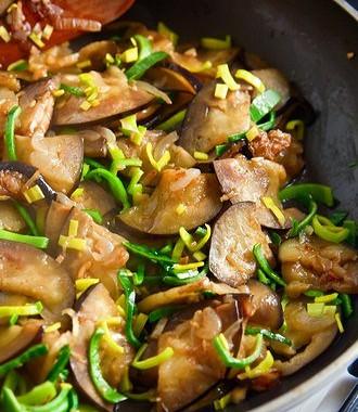 Рецепт Баклажаны сгрибами ибеконом по‑китайски