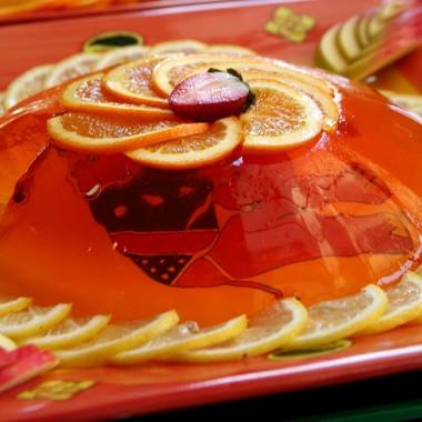 Рецепт Желе избелой сангрии сфруктами