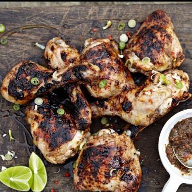 Рецепт Быстрый куриный шашлык, маринованный вромовой заправке
