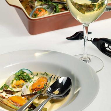 Рецепт Мидии всоусе избелого вина