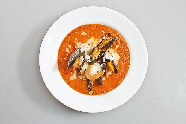 суп с морепродуктами томатный пошаговый рецепт