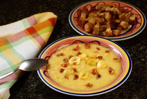Пшенный суп с луком и картофелем