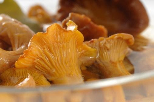Маринованные лисички с изюмом