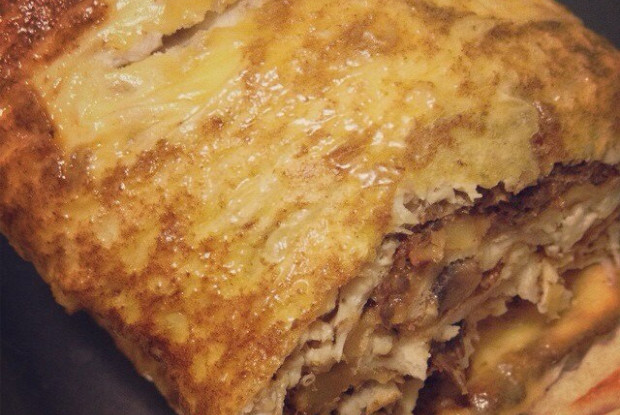 Блюда из лаваша с грибами и сыром в духовке