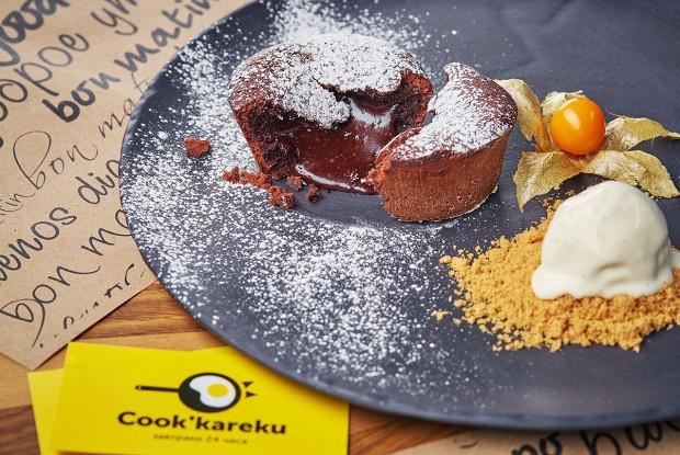 Шоколадный флан от кафе Cook'kareku