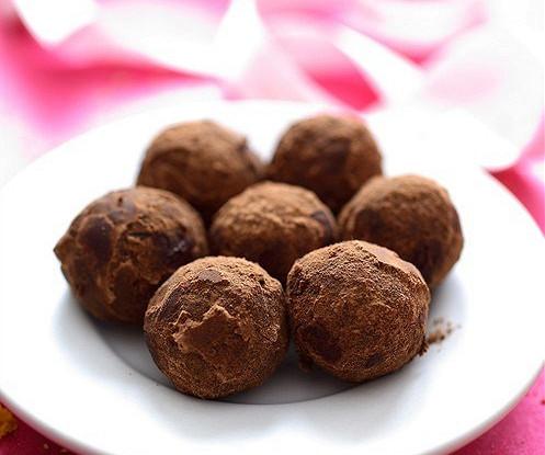 Шоколадные трюфели с вареной сгущенкой