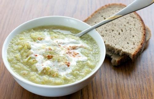 Сливочный суп из черемши