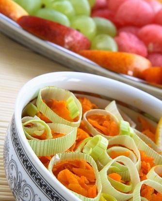 Морковный салат с лимонной заправкой