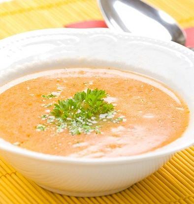 Суп молочный с тыквой и манной крупой