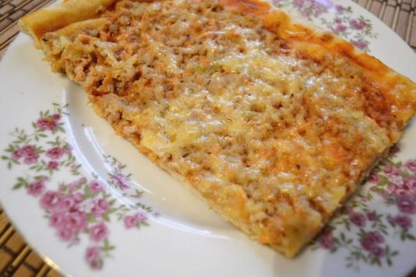 Пицца домашняя с фаршем