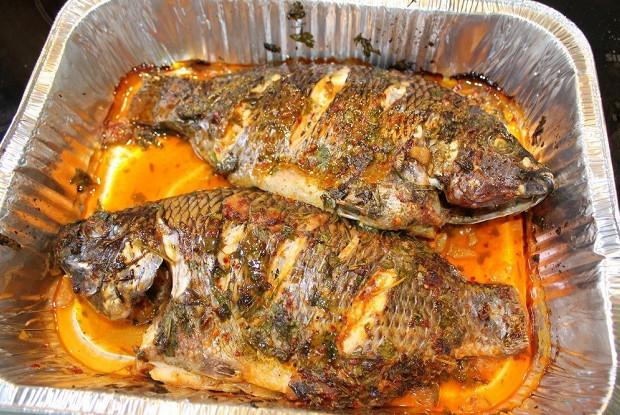 Рыба святого Петра в маринаде в средиземноморском стиле