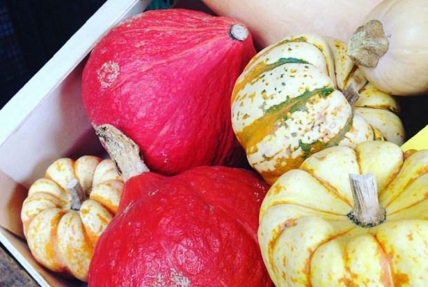 Осенний суп из тыквы с креветками и кокосовым молоком