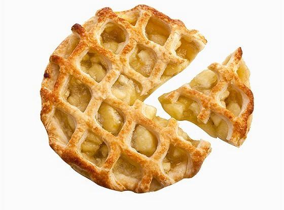 Пирог с яблоками, сухофруктами и специями