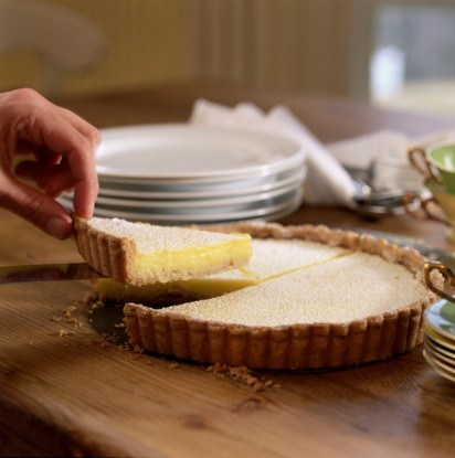 Лимонный пирог-мороженое с имбирным печеньем