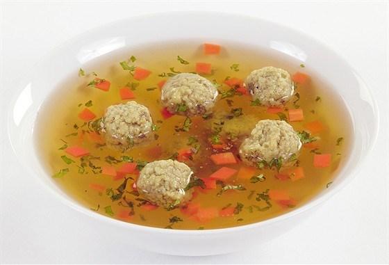 Сливочный суп с клецками из легкого