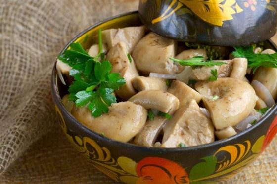 Маринованные грибы портобелло