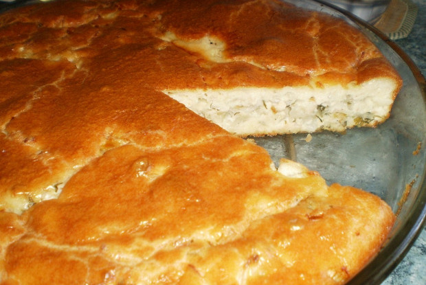 Пирог с капустой, мясом и зеленью