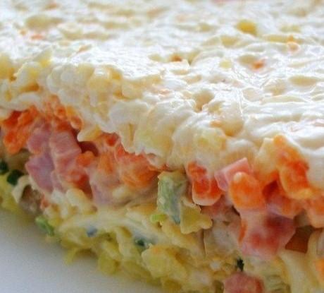 рецепт слоеный салат с икрой анастасия