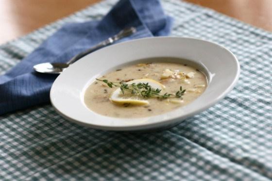 Яично-лимонный суп