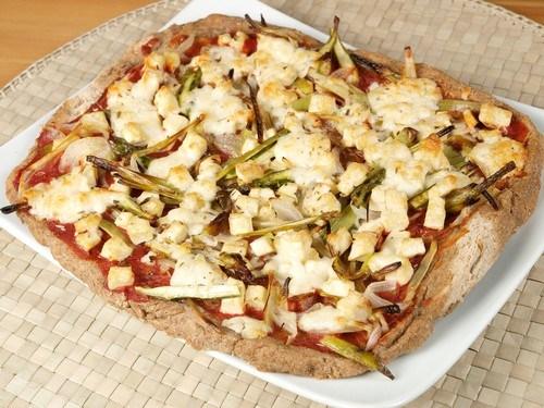 Пицца с тунцом и стручковой фасолью