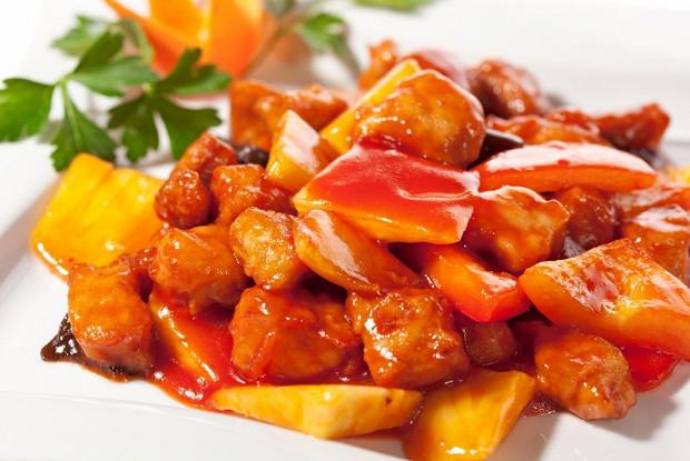 мясо в кисло сладком соусе дома