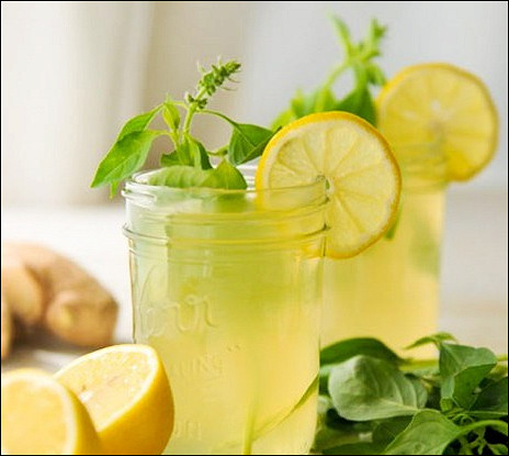 Летний лимонад с имбирем и мятой