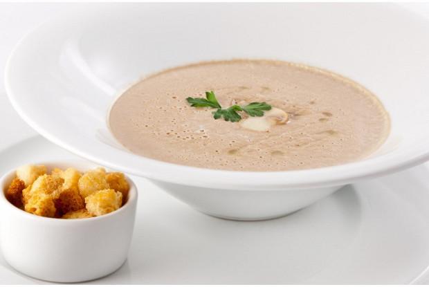 Суп пюре из грибов с кусочками картошки