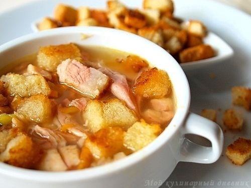 Суп гороховый с копченостями в мультиварке