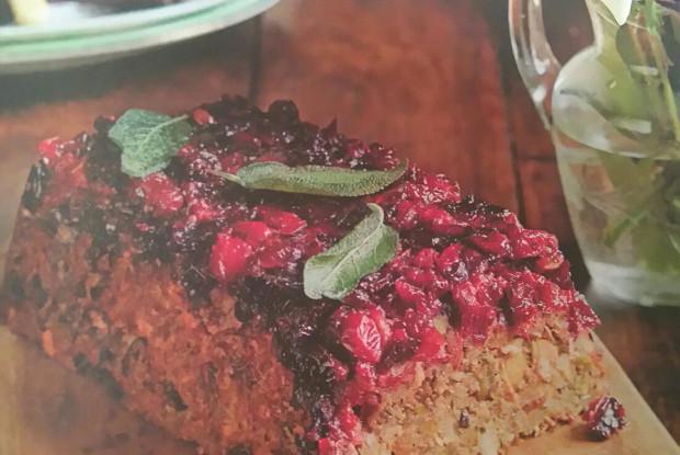 Рисовый «хлеб» с грибами и орехами