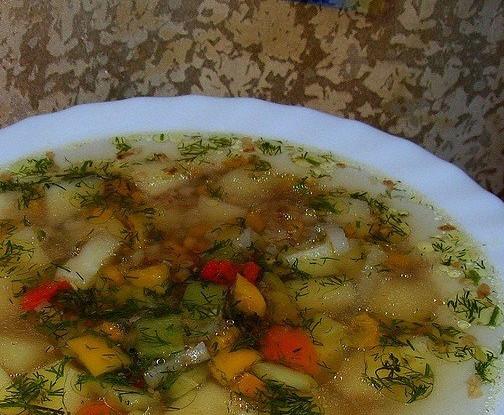 Овощной суп с гречневой крупой