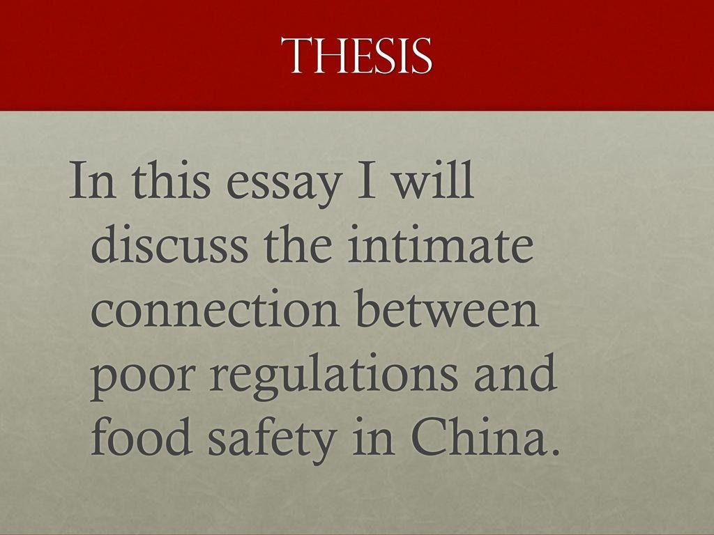 Food safety essay