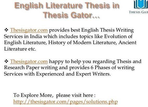 Write my english literature thesis topics