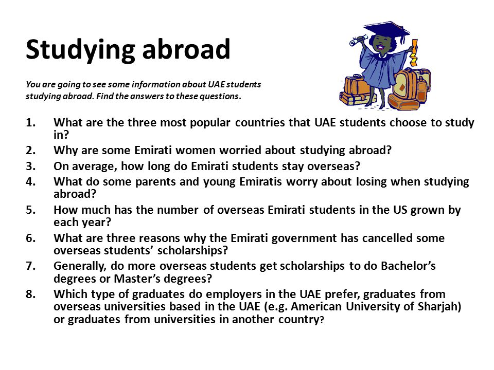 Disadvantages of Studying Abroad Essay - Cram