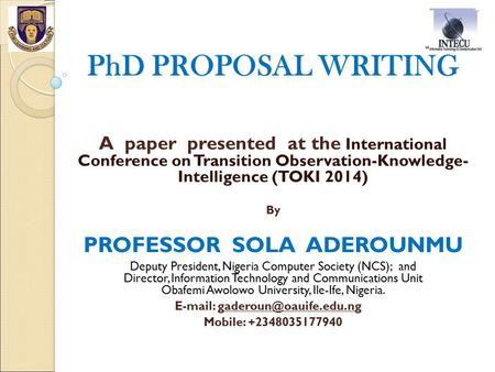 How to Write a Research Proposal for PhD