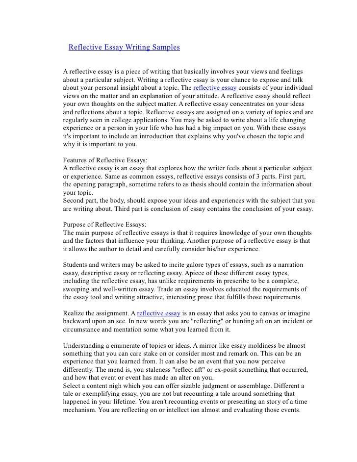 reflection essays sample