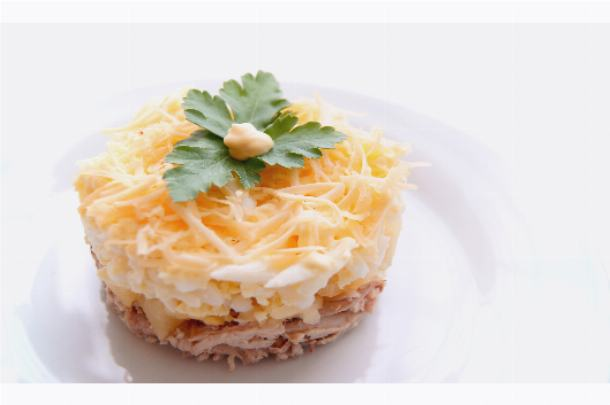 фото салата ананас с куриным