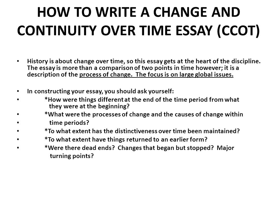 How to write an ap world history essay